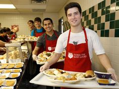 BTR helping out at a soup kitchen James Maslow, Logan Henderson, Kendall Schmidt, Carlos Pena Jr, Marcus Butler, Big Time Rush, Icarly, Most Favorite, All About Time