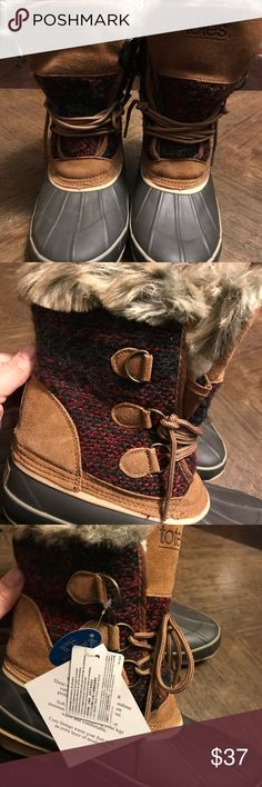 TOTES New with tags size 10 women's winter warm boots TOTES Shoes Winter & Rain Boots