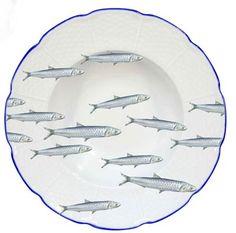 Raynaud Dinard Anchovy Rim Soup Plate