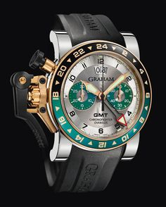 2OVGG.S06A « Oversize GMT steel & gold / gold « Chronofighter « Collection - Graham London #Watches #GrahamLondon #AttilaMéxico
