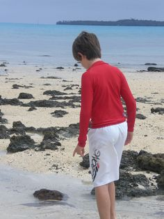 My boy looking for hermit crabs!  What a way to spend the day :-)