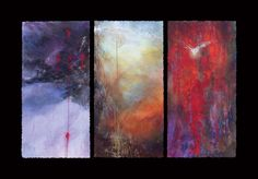 Triptych - Passion to Pentecost by Linda McCray