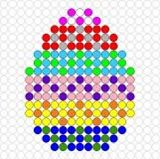 Fuse Bead Patterns, Perler Patterns, Beading Patterns, Cross Stitch Patterns, Easter Projects, Easter Crafts, Fuse Beads, Perler Beads, Tapestry Crochet Patterns