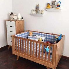 Cuna funcional madera nórdica escandinava y cajonera (para living) Girl Room, Baby Room, Baby Cribs, Kids Bedroom, New Baby Products, Ideas Para, Nursery, Baby Shower, Interior