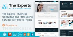 The Experts - Business Consulting and Professional Services WordPress Theme We know that every business is different, that's why we have done deep research to build each blocks in The Experts, and deliver this specifically to yours  The Experts is the Perfect Finance, Consulting & Professional Business WordPress Theme. The Experts is best suited for corporate website like Financial Advisor, Accountant, Consulting Firms, insurance, loan, tax help, Investment firm etc.