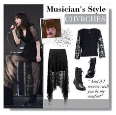 """""""Musician's Style: Chvrches"""" by yellowgrapes ❤ liked on Polyvore featuring Boohoo and ONLY"""