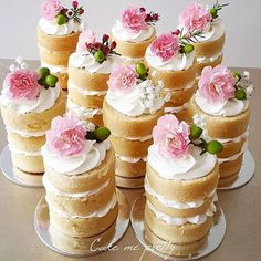 Mini Naked Cakes by @cake_me_pretty  #Bridesjournal #theoriginalbridesjournal