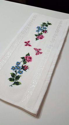 Alıntı Cross Stitching, Cross Stitch Embroidery, Hand Embroidery, Cross Stitch Designs, Cross Stitch Patterns, Asian Bridal, Cross Stitch Rose, Baby Knitting Patterns, Needlework