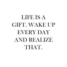 Image via We Heart It https://weheartit.com/entry/142663948 #black #blackandwhite #gift #happiness #life #positive #quotes #text #true