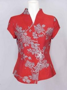 How To Sew Mandarin Collar Blouse For Women