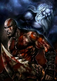 Kratos vs Zeus...NAIL. HIM. KRATOS!!!