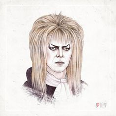 """Helen Green David Bowie 1986 """"As Jareth the Goblin King from the film Labyrinth."""""""