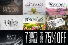 [75% OFF] Fonts Bundle by DesignSomething on Creative Market