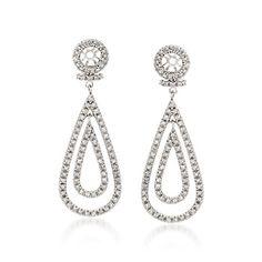 1.00 ct. t.w. Diamond Earring Jackets in 14kt White Gold   #646269 @ ross-simons.com
