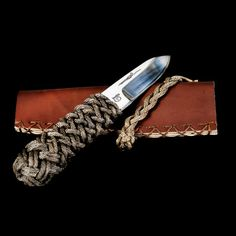 m4 knife, classic plaiting and leather case