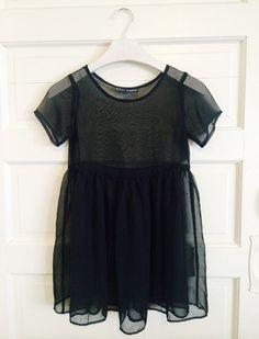 VTG 90s Betsey Johnson Sheer Black Babydoll Dress