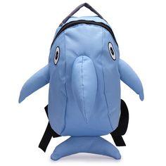 Girls Cartoon Dolphin Pattern Backpack