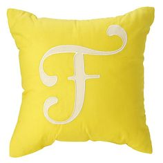 'F' Typeset Throw Pillow