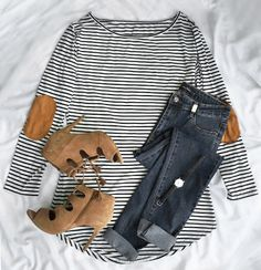 Only $18.99! Free Shipping!Start your casual day with it.This ultra comfy striped high low dress features a delicious cotton/spandex blend and suede patch at elbow that'll make you feel right wherever you are. Check it at Cupshe.com !