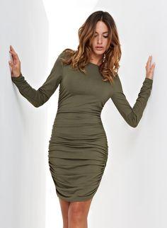 Ruched Jersey Dress   Baukjen