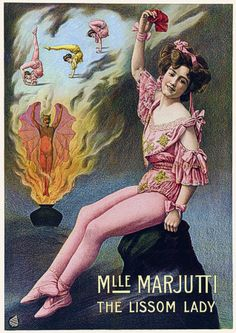 Miss Marjutti Female Acrobat Contortionist Vintage Circus Posters & Prints