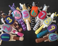 Numtums -    set of 10 handmade numtum soft toys ** inspired from cbeebies programme numtums