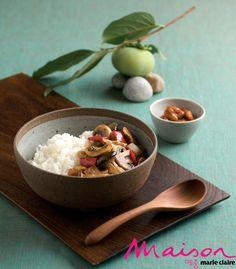 간장소스 버섯덮밥