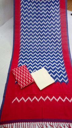 double ikkat cotton dress material