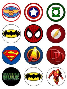 12 cupcake toppers printed on icing or rice paper with edible ink, with a range of pre-designed images. If you require any editing or text on your image, pleas Superhero Party, Superhero Logos, Edible Rice Paper, Avengers Birthday, Gum Arabic, Paper Cupcake, Fabric Painting, Cupcake Toppers, Painted Rocks