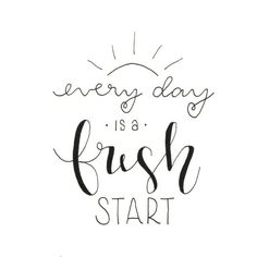 Letter Lovers frau_mesas: Handlettering every day is a fresh start calligraphy quotes Letter Lovers: frau_mesas zu Gast Calligraphy Quotes Doodles, Cute Calligraphy, Doodle Quotes, Bullet Journal Quotes, Bullet Journal Ideas Pages, Bullet Journal Inspiration, Hand Lettering Quotes, Brush Lettering, Typography