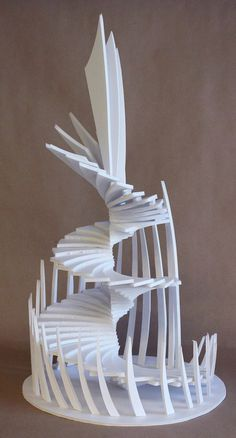 How to Construct a Foam Board Staircase Sculpture is part of architecture - Art Prof Project Ideas for Art Teachers & Art Students Folding Architecture, Concept Models Architecture, Architecture Design, Landscape Architecture Model, Architecture Student, Geometric Sculpture, Abstract Sculpture, Sculpture Art, Design Poster