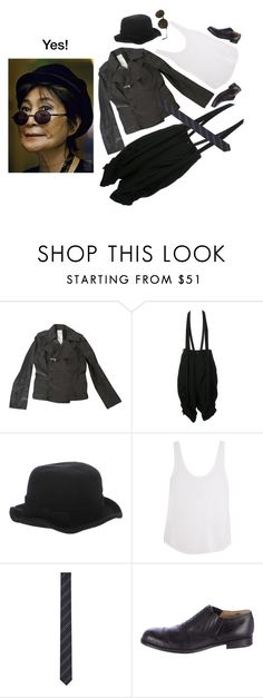 """""""Yoko"""" by lacerta ❤ liked on Polyvore featuring Yohji Yamamoto, Comme des Garçons, Frame Denim, Yves Saint Laurent and Ray-Ban"""