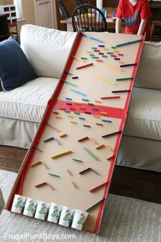 Epic DIY Marble Run! What an awesome STEM activity for kids. Epic DIY Marble Run! What an awesome STEM activity for kids. The post Epic DIY Marble Run! What an awesome STEM activity for kids. appeared first on Pink Unicorn. Kids Crafts, Craft Stick Crafts, Diy And Crafts, Craft Sticks, Creative Crafts, Plate Crafts, Lollypop Stick Craft, Decor Crafts, Recycled Crafts