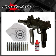 IWI Mini UZI CO2-Pistole Kal. 4,5 mm - Set