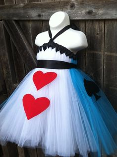 Alice in Wonderland Costume Tutu Dress Disney by FancifulFluff, $55.00 liseli out fit for her mad hatter party