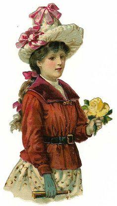 Vintage Die Cut Women | Flickr - Photo Sharing!