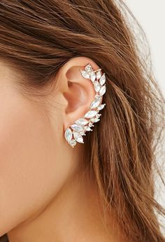 Women's Ear Cuffs Ideas 41 Ear Jewelry, Cute Jewelry, Body Jewelry, Jewelry Accessories, Jewelry Design, Jewlery, Skull Jewelry, Hippie Jewelry, Pandora Jewelry
