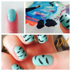 #nails#azzurro#zebrate#dil