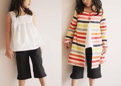 KCW Spring – Days 2 & 3 | Popsicle-colored knit coat + Eyelet tank + Linen-blend Capris | Sanae Ishida