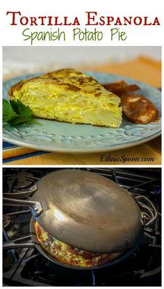 Tortilla Epanola - Spanish Potato Pie | ethnicspoon.com