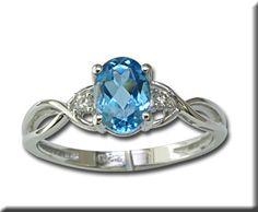 Kashmir Blue Topaz Ring