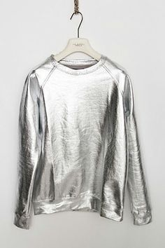 clothes, tops, sweatshirts, silver, metallic