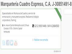Marquetería Cuadro Express, C.A. J-30851491-8  Especializados en Monturas de Cuadros, servicio de enmarcación y marqueteria express. Realizamos trabajos corporativos, framing