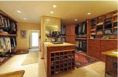 A mans closet ... mmmm. Very nice.