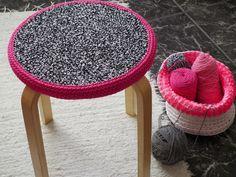 modern crochet stool covers - looping home