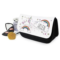 Personalised Unicorn Make Up Bag ($19) ❤ liked on Polyvore featuring beauty products, beauty accessories, bags & cases, toiletry bag, make up bag, cosmetic bags, makeup bag case and cosmetic purse