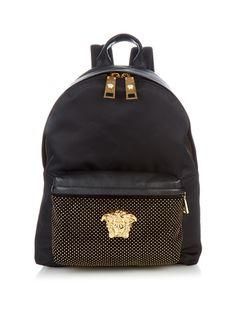 Medusa studded nylon backpack  | Versace | MATCHESFASHION.COM