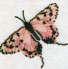 Мозаичные бабочки, схемы / Схемы / Бусинка  Many different b'fly charts on this site.