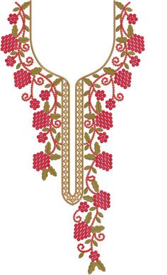 Latest Neck Designs for Kurtis / Dress / Suit / Men's Neck Download Embroidery Design File in .EMB Format. Machine Embroidery Patterns, Hand Embroidery, Kutch Work Designs, Daisy Shah, Salwar Neck Designs, Designs For Dresses, Suit Men, Aishwarya Rai, Pakistani Dresses