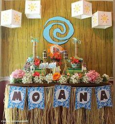 Fiesta infantil tematica de moana hawaiana (12) - Tutus para Fiestas Mexico - Disfrases personalizados y moños